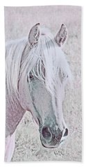 Hand Towel featuring the photograph The Pink Horse by Jennie Marie Schell