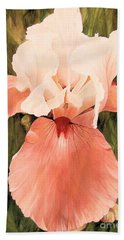 Hand Towel featuring the painting The Pink Lady  by Laurie Rohner