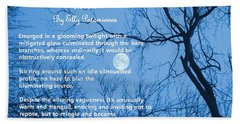 The Pleasant Countenance Of The Moon Bath Towel