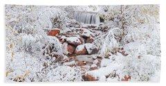 The Poetic Beauty Of Freshly Fallen Snow  Hand Towel
