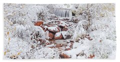 The Poetic Beauty Of Freshly Fallen Snow  Bath Towel