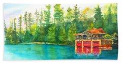 The Point Resort Boathouse Saranac Lake Ny Hand Towel