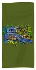 Hand Towel featuring the photograph Blakes Pond House by Thom Zehrfeld
