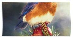 The Pondering Bluebird Hand Towel