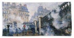 The Pont De Leurope Gare Saint Lazare Bath Towel