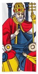 The Pope Tarot Card Hand Towel