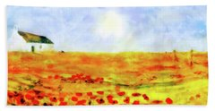 The Poppy Picker Bath Towel