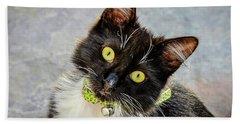 The Portrait Of A Cat Bath Towel