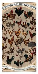 The Poultry Of The World 1868 Hand Towel