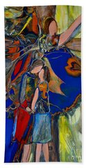 Bath Towel featuring the painting The Power Of Forgiveness by Deborah Nell