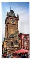 The Prague Clock Tower Bath Towel
