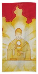 The Presence Of Jesus Christ In The Holy Eucharist Hand Towel