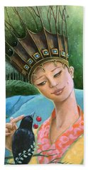The Princess And The Crow Hand Towel by Terry Webb Harshman