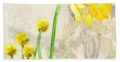 The Promise Of Spring - Daffodil Bath Towel