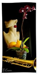 Bath Towel featuring the photograph The Purple Orchid by Elf Evans