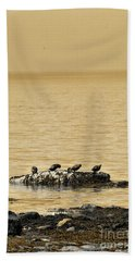 Bath Towel featuring the photograph The Quatuor - Gold by Aimelle