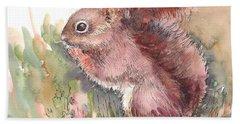 The Red Aqurrel Hand Towel