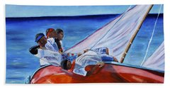 The Red Boat Bath Towel