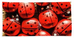 The Red Bug Out  Bath Towel
