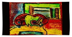 The Red Couch Bath Towel