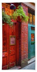 The Red Door Hand Towel by Keith Boone