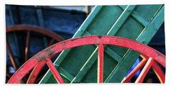 The Red Wagon Wheel Bath Towel