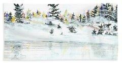 The Reflection Lake Hand Towel