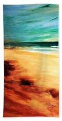 Hand Towel featuring the painting The Remaining Pine by Winsome Gunning