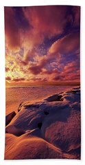 Hand Towel featuring the photograph The Return by Phil Koch