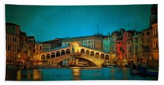 The Rialto Bridge Hand Towel
