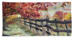 The Rickety Fence Hand Towel by Roxy Rich