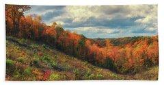 The Ridges Of Southern Ohio In Fall Bath Towel