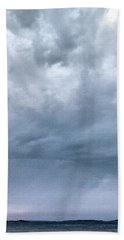 Hand Towel featuring the photograph The Rising Storm by Jouko Lehto