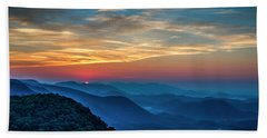 The Rising Sun Pretty Place Chapel Greenville S C Great Smoky Mountain Art Hand Towel