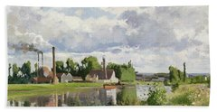 The River Oise Near Pontoise Bath Towel