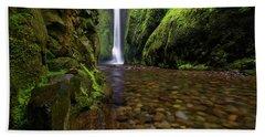 The River Rocks Bath Towel by Jonathan Davison