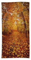 The Road Never Traveled Bath Towel by Phil Koch