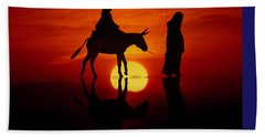 Bath Towel featuring the painting The Road To Bethlehem by Valerie Anne Kelly