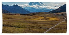 The Road To Denali Hand Towel