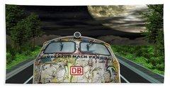 Bath Towel featuring the digital art The Road Trip by Angela Hobbs