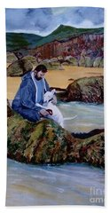 The Rock Pool - Painting Hand Towel