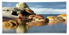 The Rocks And The Water Bath Towel