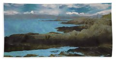 The Rocky Maine Coast. Bath Towel