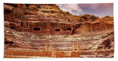 The Roman Theater At Petra Hand Towel