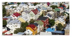 The Roofs Of Reykjavik Bath Towel