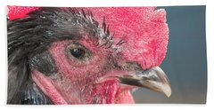 The Rooster Bath Towel by David Stasiak