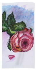 The Rose Bath Towel by Clyde J Kell