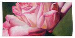 Bath Towel featuring the painting The Rose by Lori Brackett