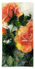 The Roses Hand Towel