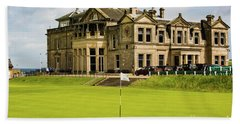 The Royal And Ancient Golf Club Of St Andrews Hand Towel by MaryJane Armstrong
